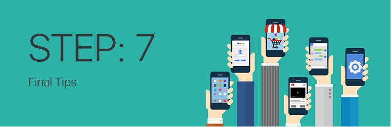 Step 7 for mobile app development company