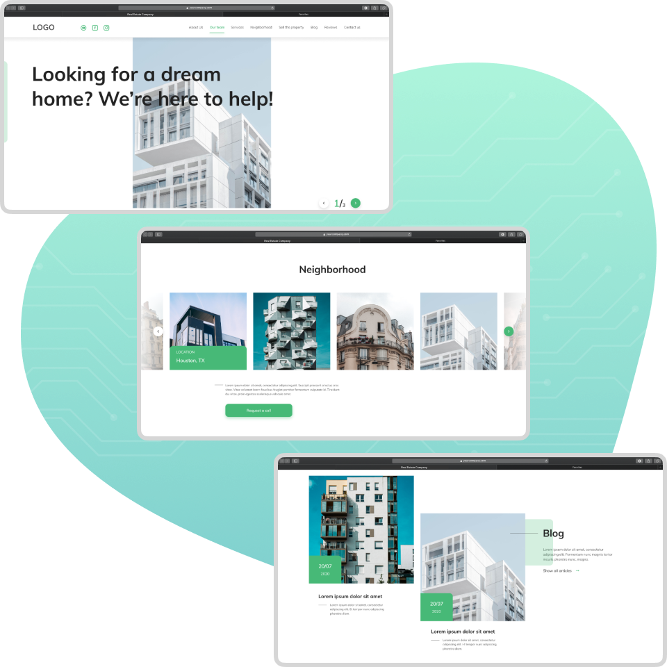 how to design an app for real estate