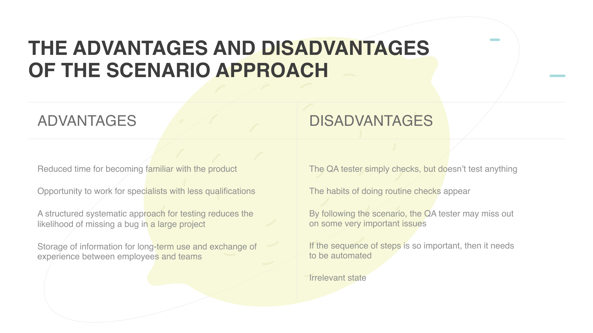 the advantages and disadvantages of the