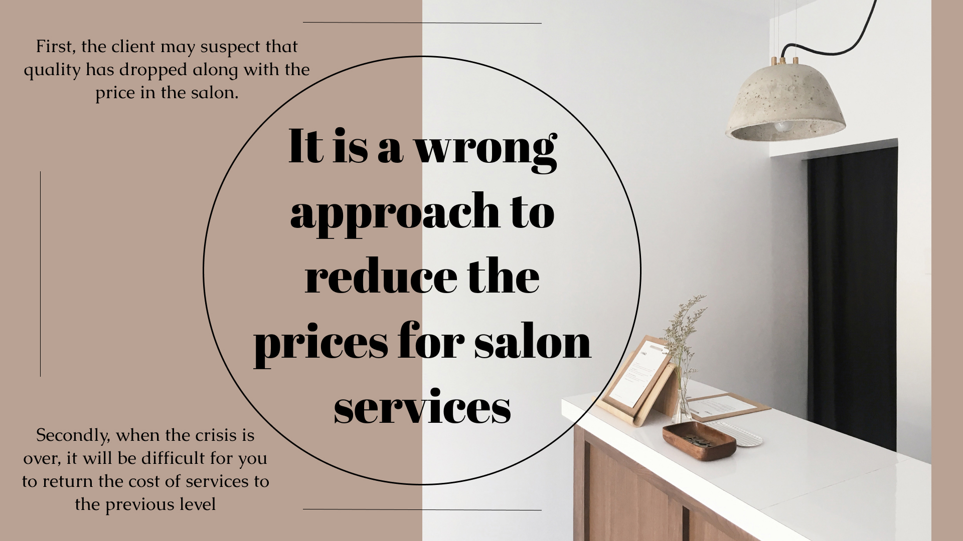 сrisis-management in a beauty salon