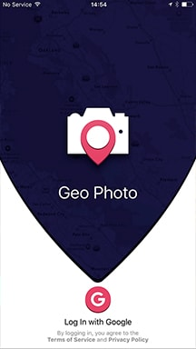 The image of GeoPhoto start screen
